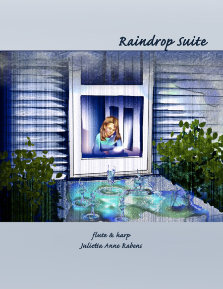 Raindrop Suite for flute and pedal harp