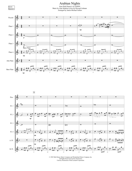 Arabian Nights (for Flute Choir)