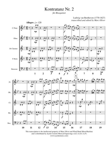 Kontratanz No. 2 for Woodwind Quintet