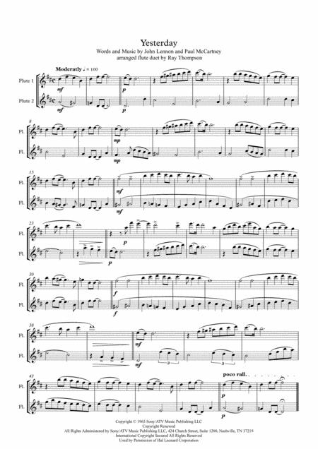 Beatles: Yesterday - flute duet