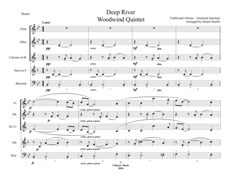 Deep River - Woodwind Quintet - Intermediate