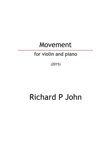 Movement (for violin and piano)