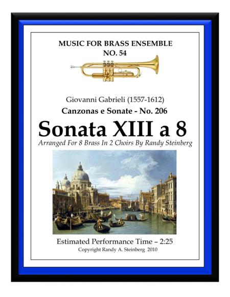 Sonata XIII a 8 - No. 206