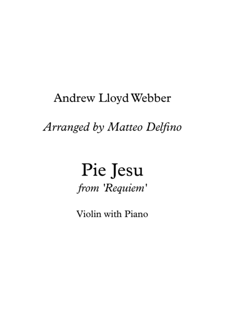 Pie Jesu (Violin with Piano)