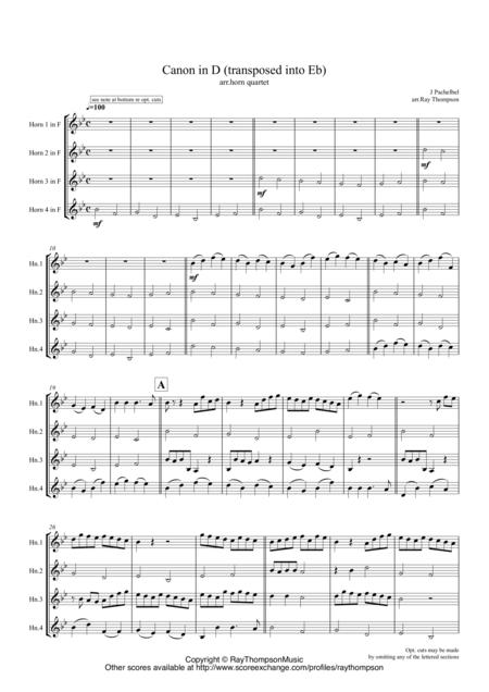 Pachelbel: Canon In D -  horn quartet