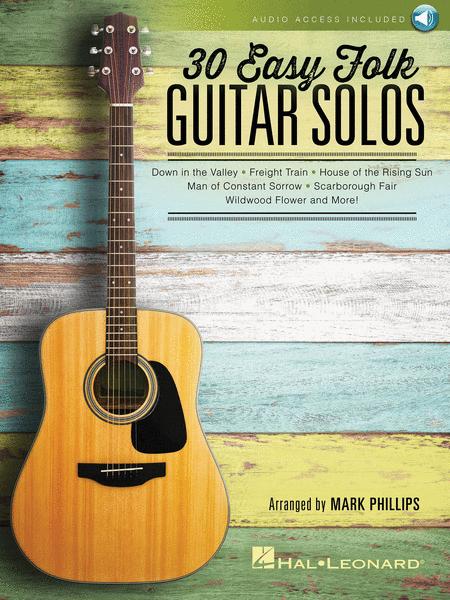 30 Easy Folk Guitar Solos