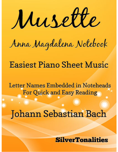 Musette Anna Magdalena Notebook Easiest Piano Sheet Music