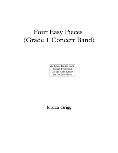 Four Easy Pieces (Grade 1 Concert Band)