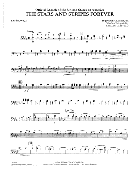 The Stars and Stripes Forever - Bassoon 1, 2