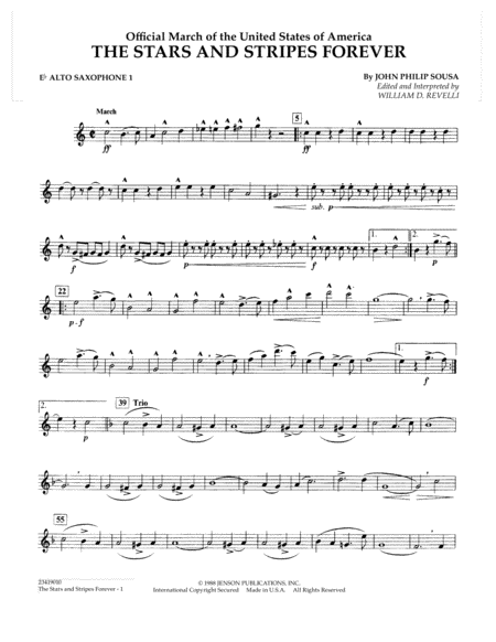 The Stars and Stripes Forever - Eb Alto Saxophone 1