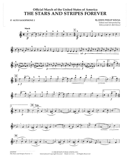 The Stars and Stripes Forever - Eb Alto Saxophone 2