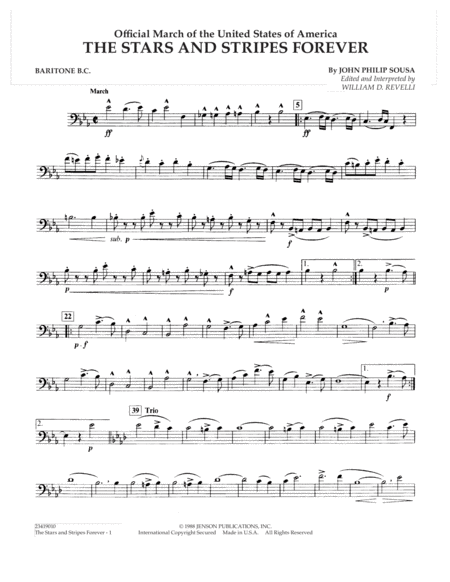 The Stars and Stripes Forever - Baritone B.C.