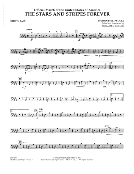 The Stars and Stripes Forever - String Bass