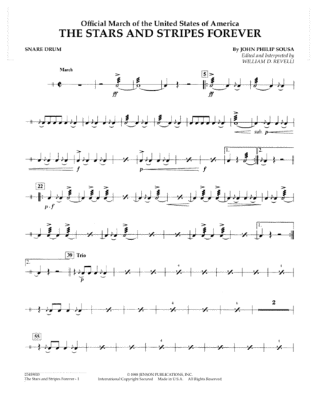The Stars and Stripes Forever - Snare Drum
