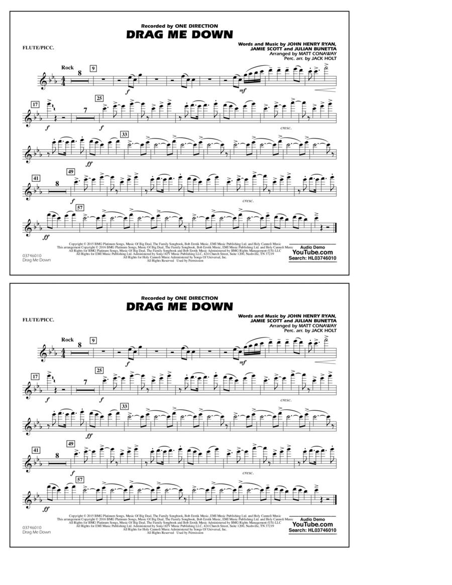 Drag Me Down - Flute/Piccolo