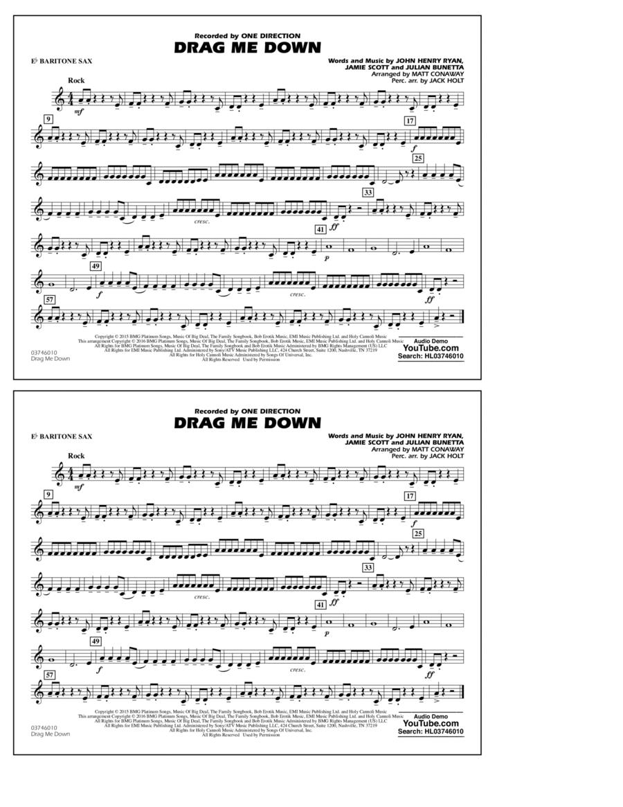 Drag Me Down - Eb Baritone Sax