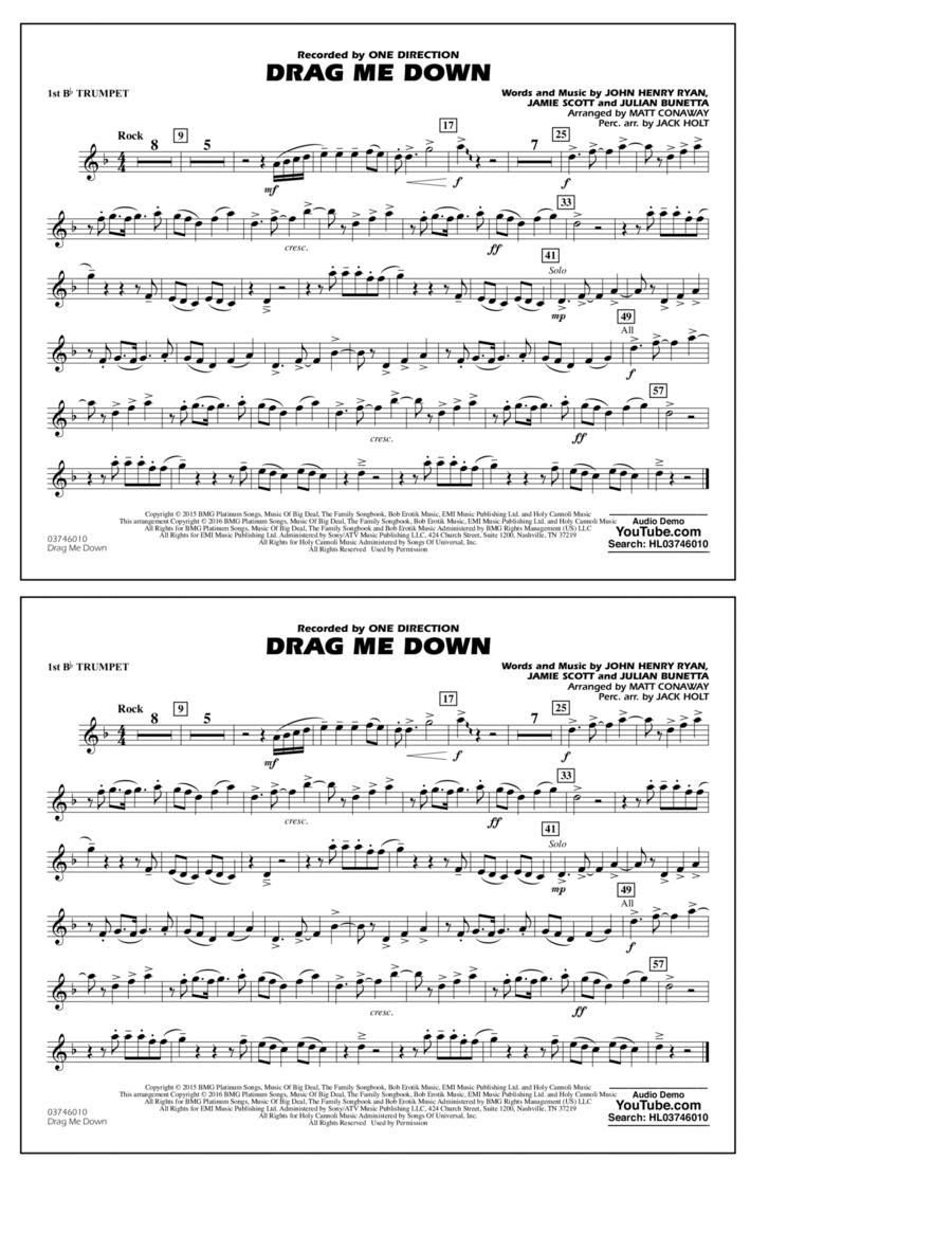Drag Me Down - 1st Bb Trumpet