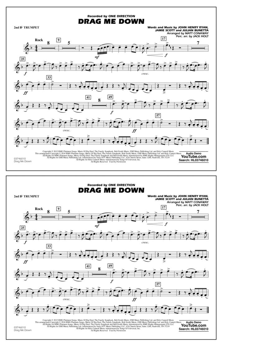 Drag Me Down - 2nd Bb Trumpet