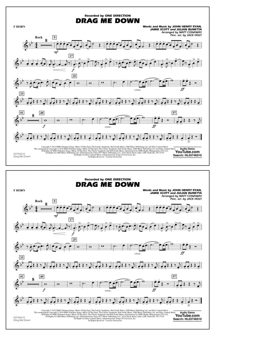 Drag Me Down - F Horn