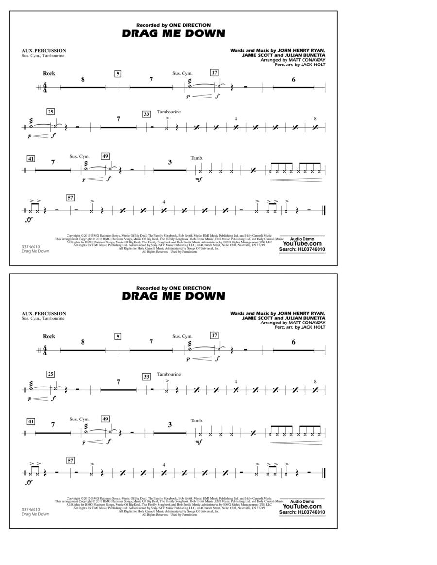 Drag Me Down - Aux Percussion