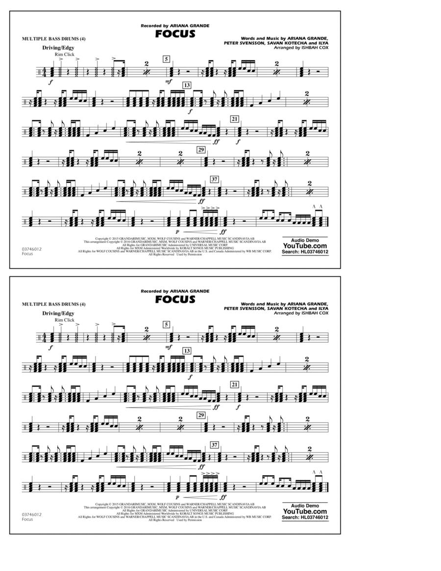 Focus - Multiple Bass Drums