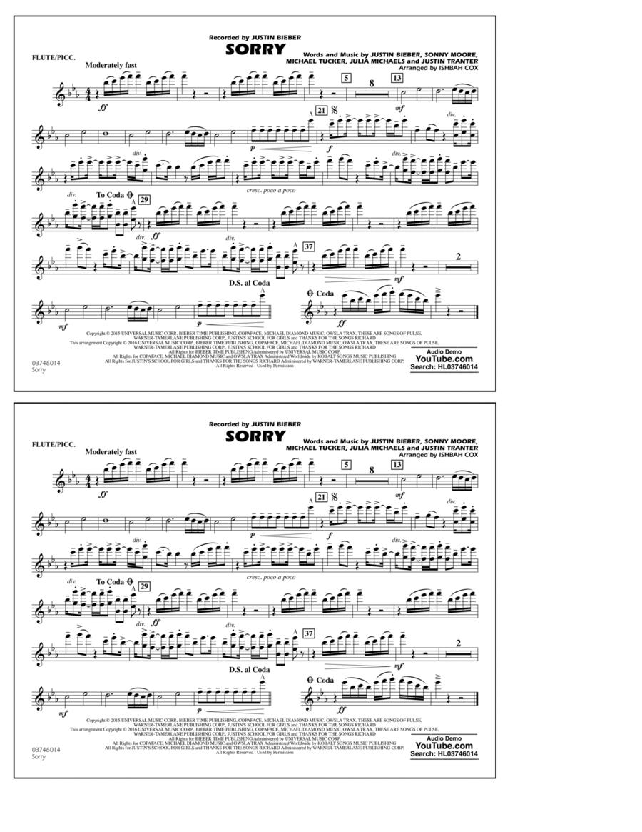 Sorry - Flute/Piccolo