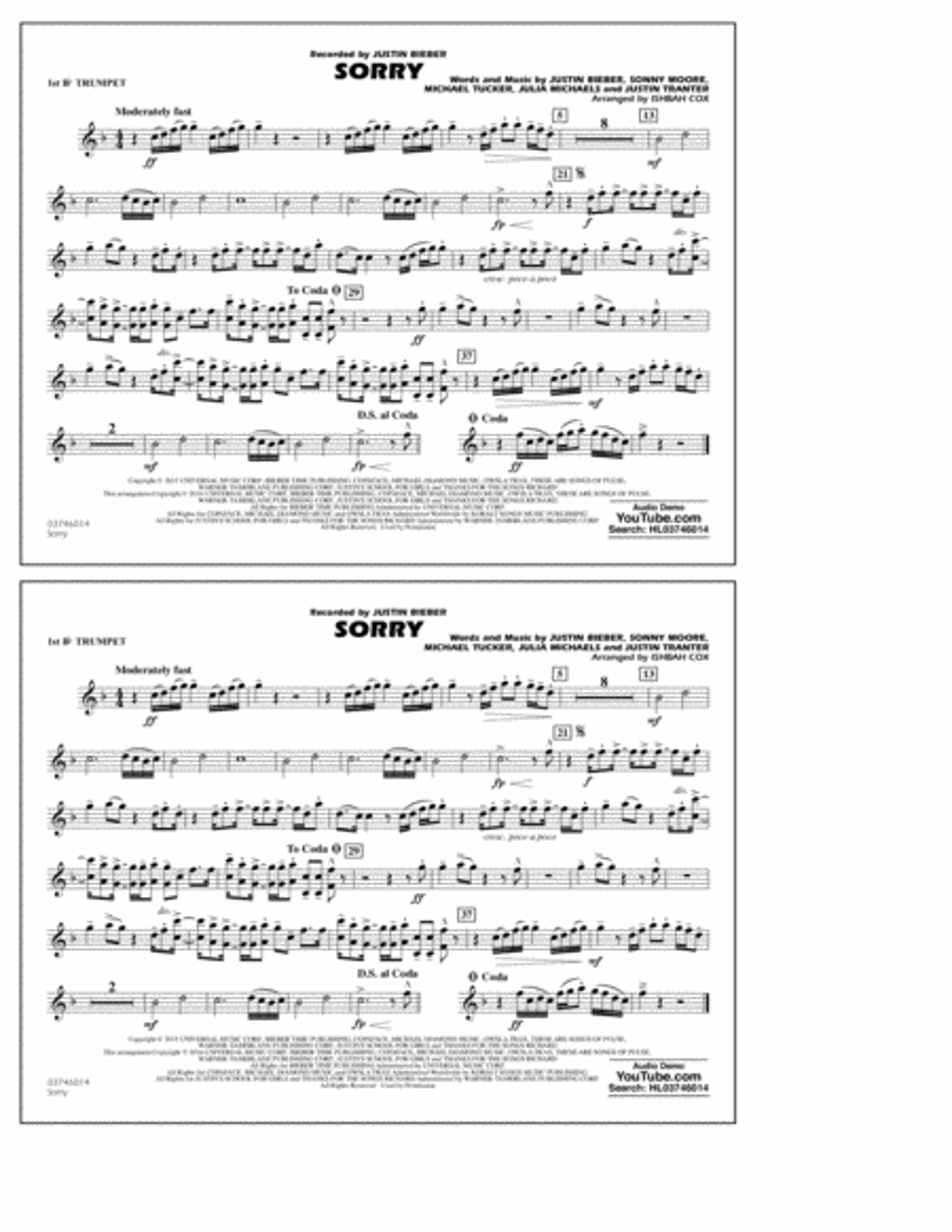 Sorry - 1st Bb Trumpet