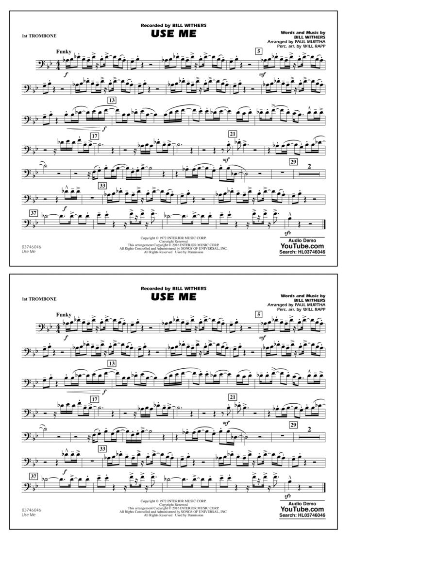 Use Me - 1st Trombone