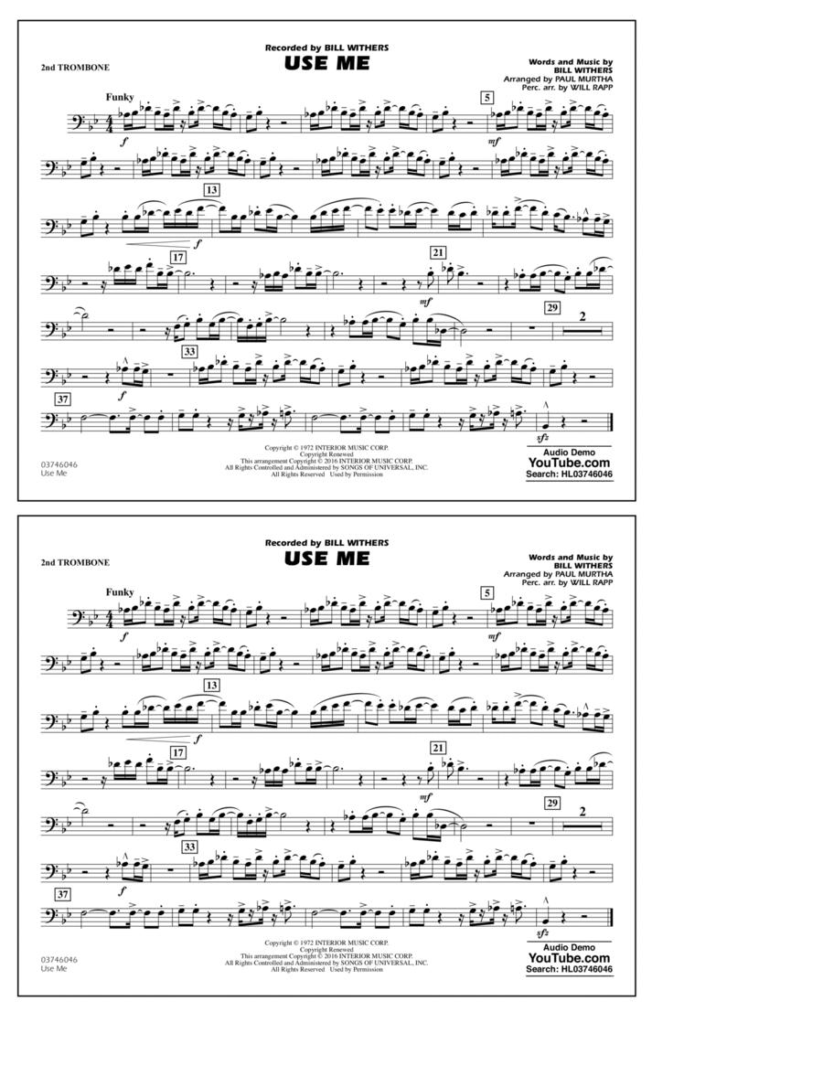 Use Me - 2nd Trombone