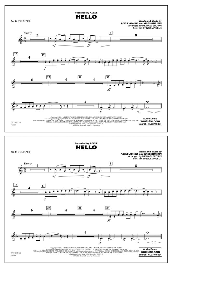 Hello - 3rd Bb Trumpet