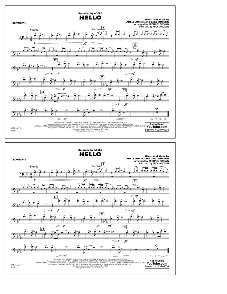 Hello - Trombone