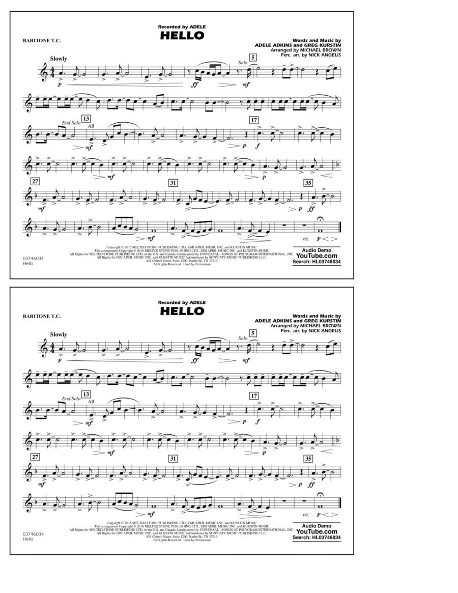 Hello - Baritone T.C.