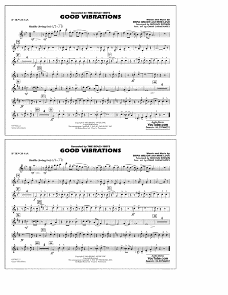 Good Vibrations - Bb Tenor Sax