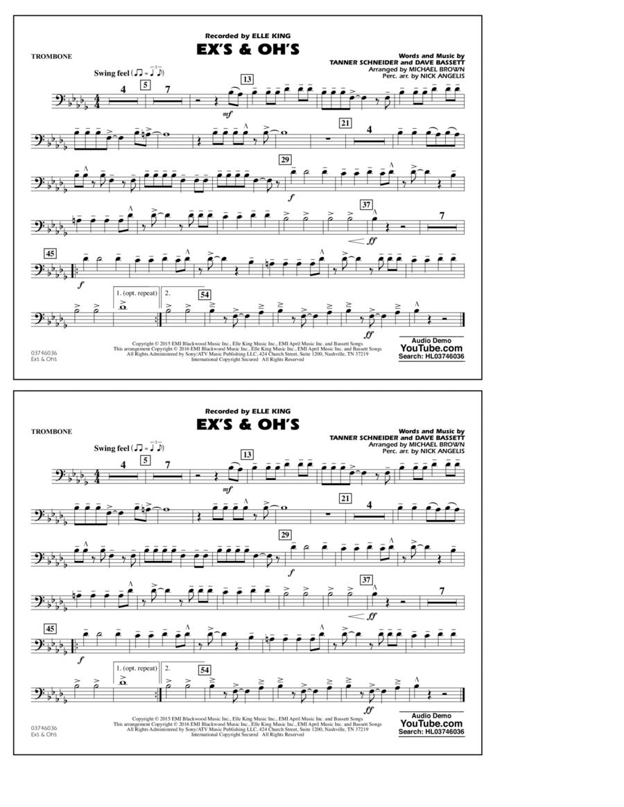 Ex's & Oh's - Trombone