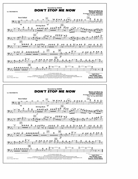 Don't Stop Me Now - 1st Trombone