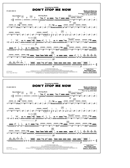 Don't Stop Me Now - Snare Drum