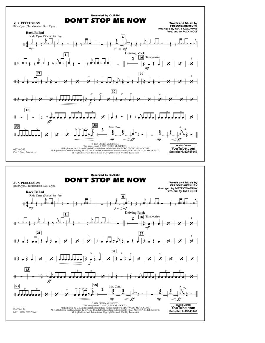 Don't Stop Me Now - Aux Percussion