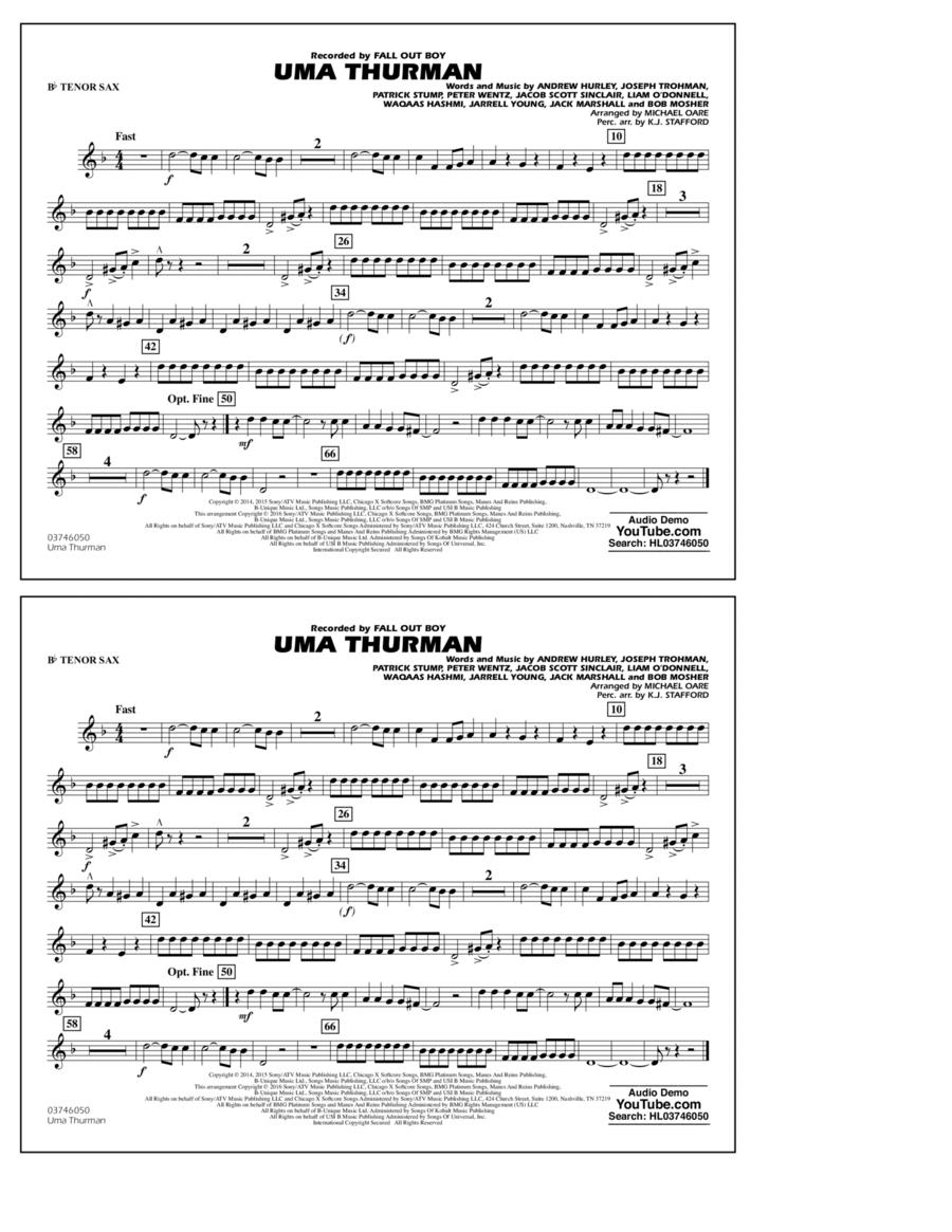 Uma Thurman - Bb Tenor Sax