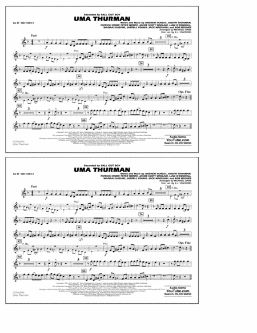 Uma Thurman - 1st Bb Trumpet