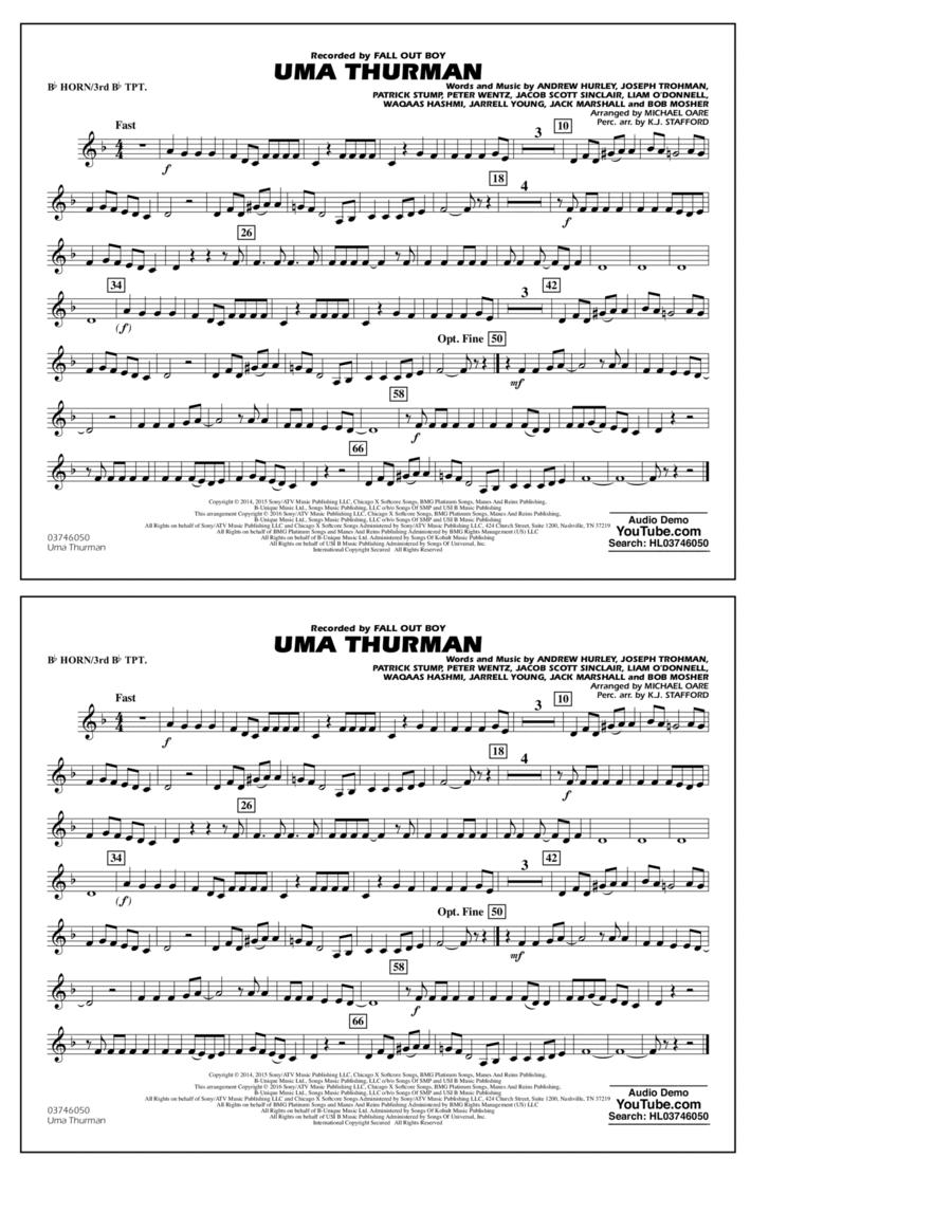 Uma Thurman - Bb Horn/3rd Bb Tpt