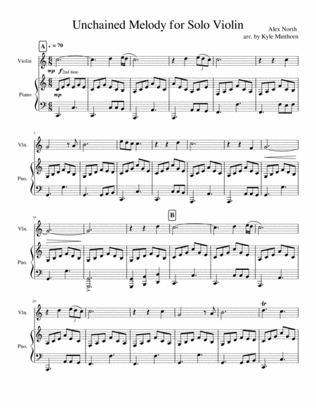 Unchained Melody for Solo Violin