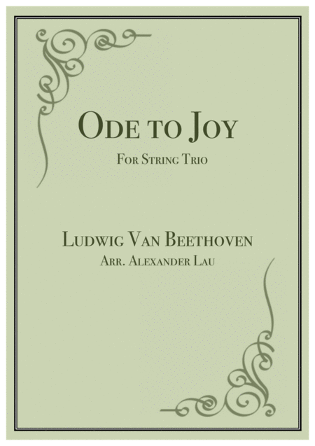 Ode to Joy for String Trio
