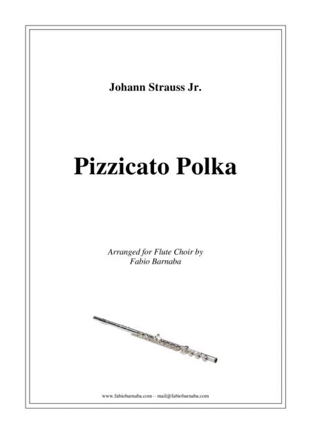 Pizzicato Polka - for Flute Choir