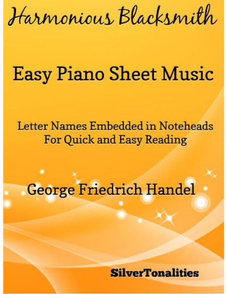 Harmonious Blacksmith Easy Piano  Sheet Music