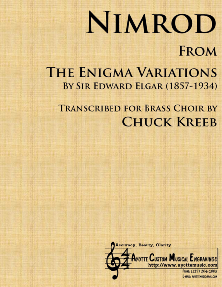 Nimrod (from the Enigma Variations) transcribed for Brass Quintet