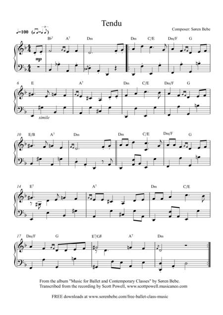Tendu - Music for Ballet Class