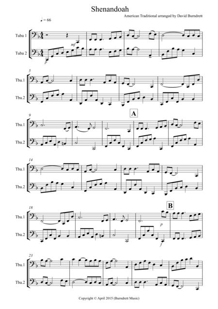 Shenandoah for Tuba Duet