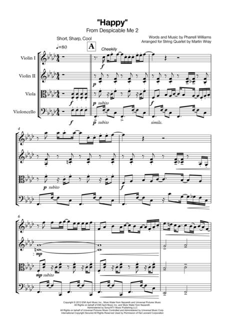 Happy - String Quartet
