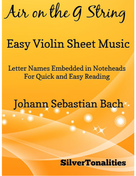 Air on the G String Easy Violin Sheet Music