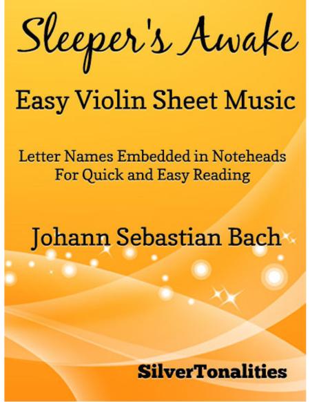 Sleeper's Awake Easy Violin Sheet Music